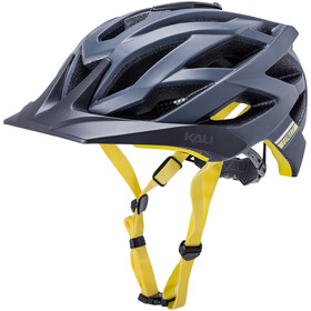Kali Lunati Sync Helm matt navy/yellow